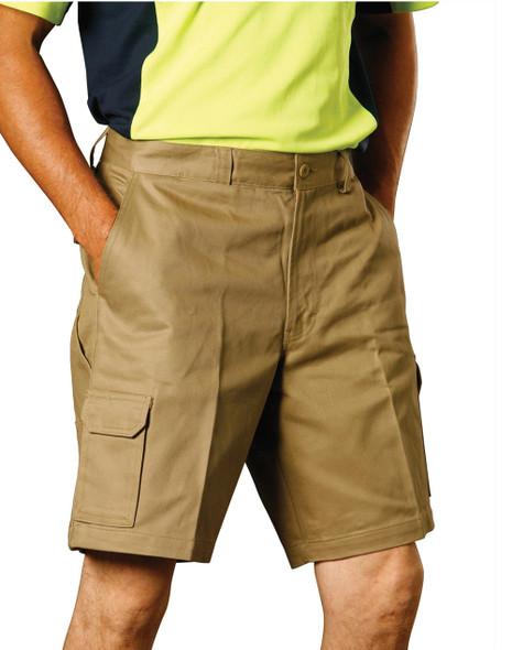 WP06 - Men's Heavy Cotton Pre-shrunk Cargo Shorts