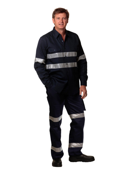 WP07HV - Pre-Shrunk Drill Pants with Biomotion 3M Tapes - Regular Size