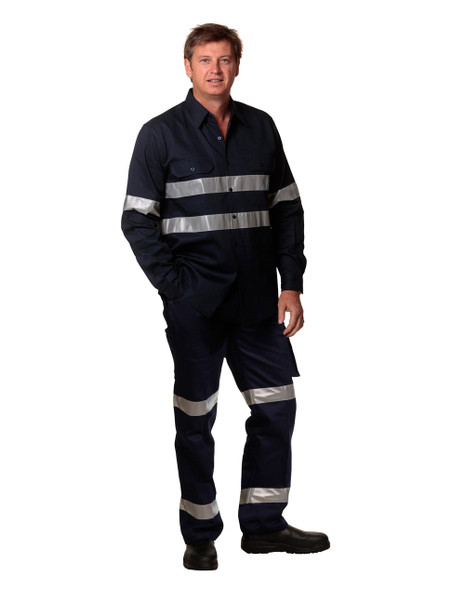 WP08HV - Pre-Shrunk Drill Pants with Biomotion 3M Tapes - Stout Size