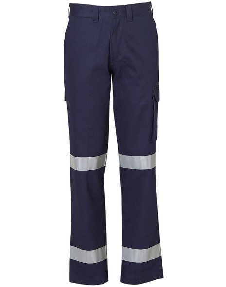WP15HV - Ladies Heavy Cotton Drill Cargo Pants with Biomotion 3M Tapes