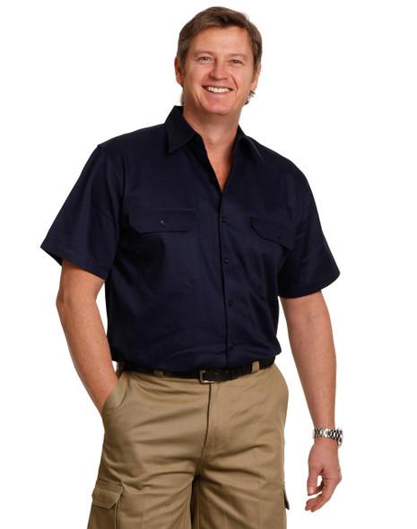 WT01 - Cool-Breeze Cotton Short Sleeve Work Shirt