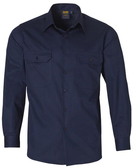 WT02 - Cool-Breeze Cotton Long Sleeve Work Shirt