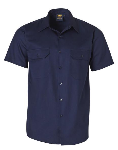 WT03 - Cotton Drill Short Sleeve Work Shirt