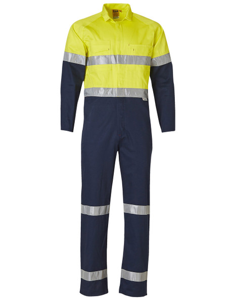 SW207 - Men's Cotton Drill Coverall with 3M Scotchlite Tapes