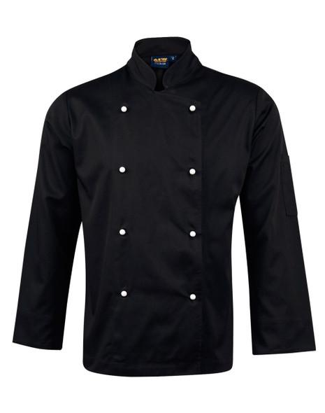 CJ01 - Traditional Chef's Unisex Long Sleeve Jacket