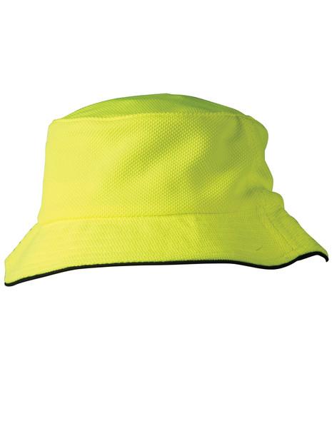 CH71 - Pique Mesh With Sandwich Bucket Hat