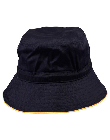 H1033 - Bucket Hat With Sandwich & Toggle