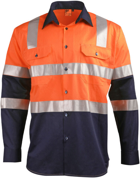 SW70 - Biomotion Day/Night Lightweight Safety Shirt with X Back Tape Configuration