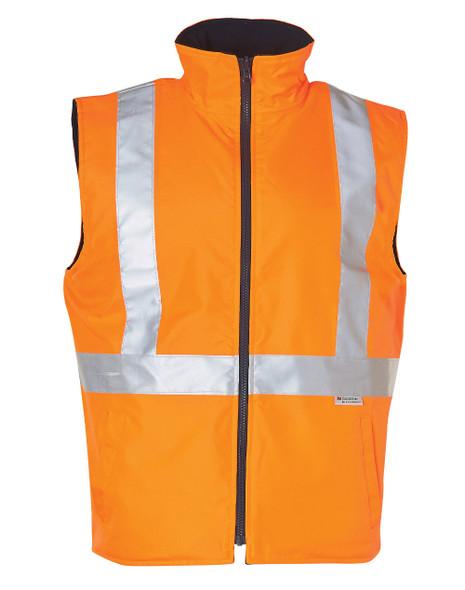 SW19A - Hi-Vis Reversible Safety Vest with 3M Tape
