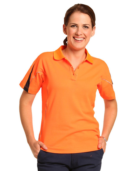 SW26A - Ladies TrueDry Hi-Vis Polo with Reflective Piping