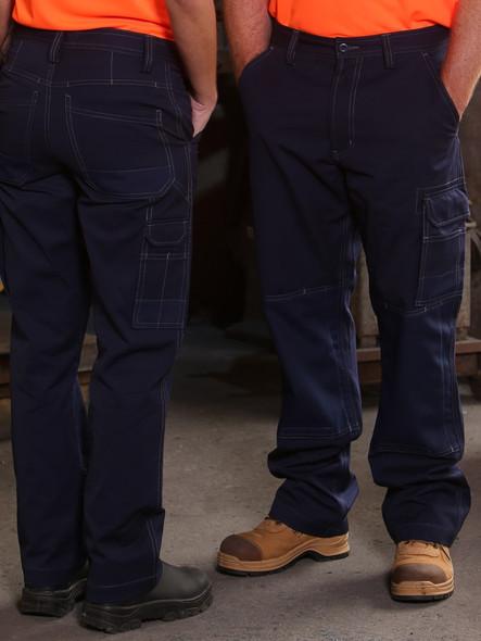 WP20 - Unisex Cotton Canvas Cargo Pants with Cordura