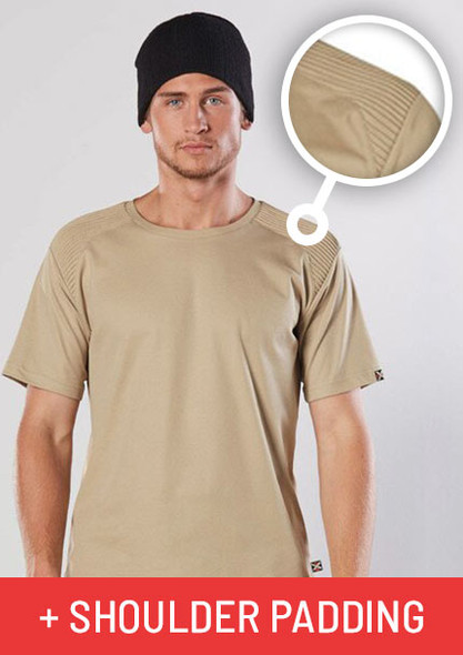 TS209 - Unisex TrueDry Tee with Shoulder Padding