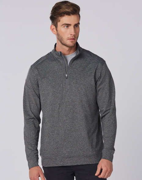 FL25 - Mens Ultimate Half Zip Long Sleeve Sweat Top