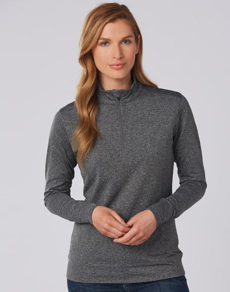 FL26 - Ladies Ultimate Half Zip Long Sleeve Sweat Top