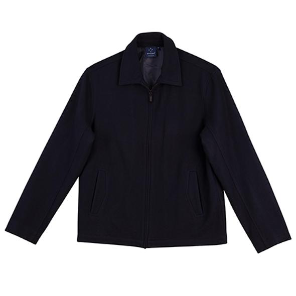 Black - JK13 FLINDERS Wool Blend Corporate Jacket Mens - Winning Spirit