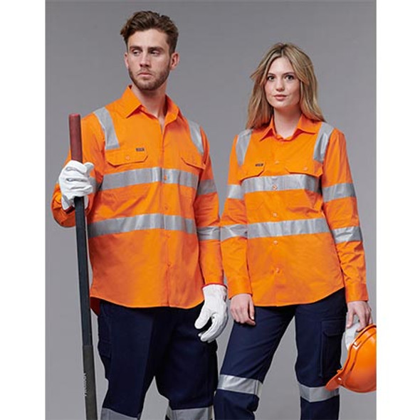 SW55 Vic Rail Lightweight Safety Shirt- Unisex - Winning Spirit