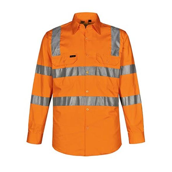 Orange - SW55 Vic Rail Lightweight Safety Shirt- Unisex - Winning Spirit