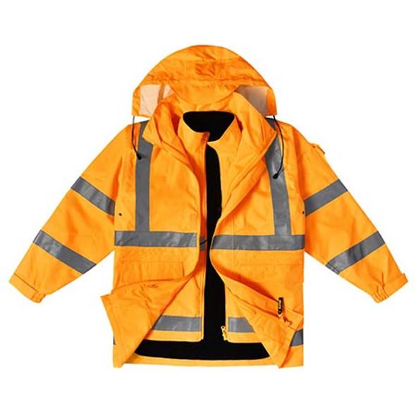 Orange - SW77 VIC Rail Hi Vis 3 in 1 Safety Jacket and Vest - Unisex - Winning Spirit