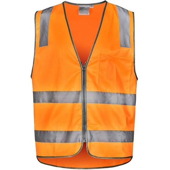 Orange - SW40 Vic Rail Hi Vis Safety Vest- Unisex - Winning Spirit