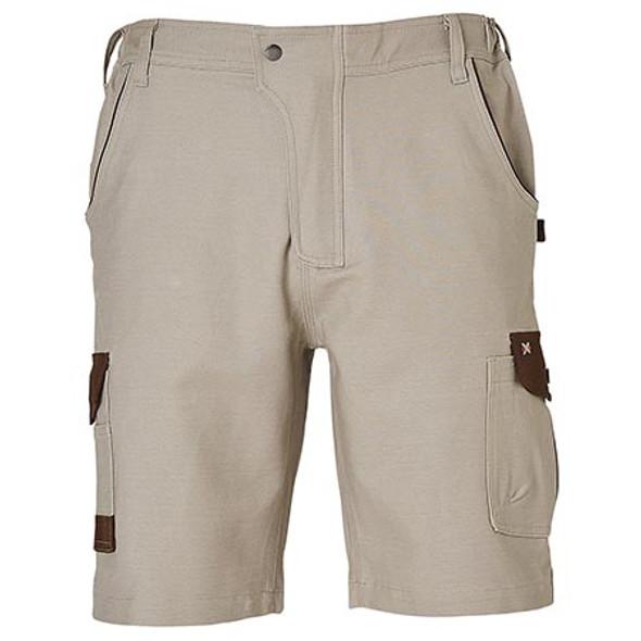 Sand - WP23 Mens Stretch Cargo Work Shorts with Design Panel Treatment - Winning Spirit