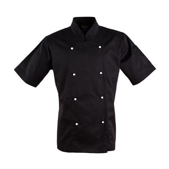 Black - CJ02 Chefs Short Sleeve Jacket - Winning Spirit