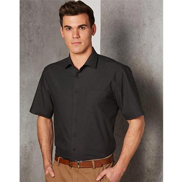 M7400S Mens Ascot Dot Jacquard Short Sleeve Shirt - Winning Spirit