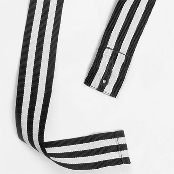 Black-White - AP11 Changeable Two Tone Apron Straps - Winning Spirit