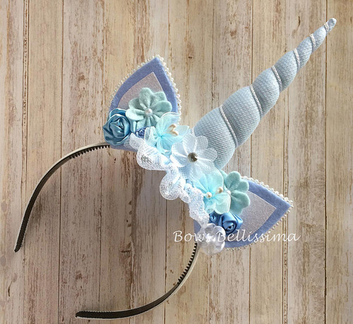 Unicorn Headband Ice Blue Splendor - Free Shipping