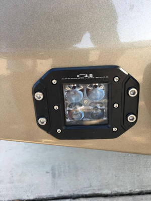 OLB 3 Inch Dual LED Cube Kit With Flush Mounts Reverse Lights