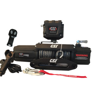 CSI A12000S 12000LBs - Synthetic Rope - Aluminum Hawse Fairlead Winch