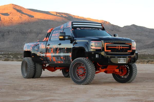 Base Bumper With Parking Sensors Mounts.   Clevis Mounts. Rigid Industries Q-Series