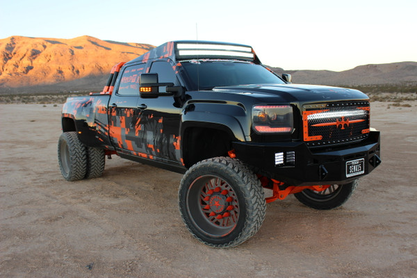 Base Bumper With Parking Sensors Mounts. . Clevis Mounts. Rigid Industries Q-Series