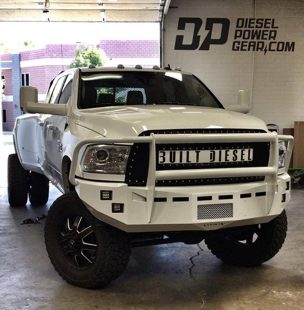 Defender Plus Grille Guard No Clevis Mounts  Rigid Industries Dually lights