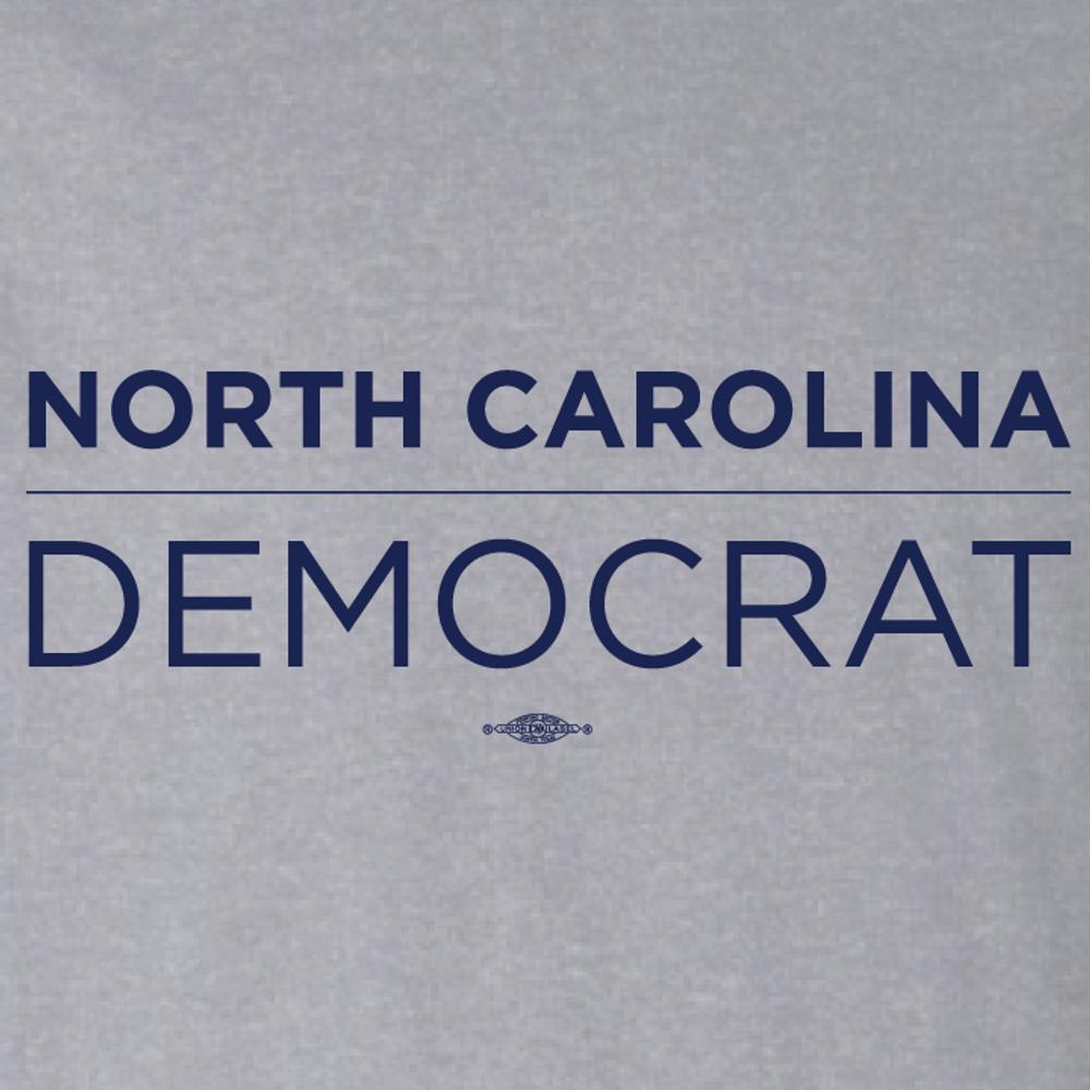 North Carolina Democrat (on Athletic Heather Tee)