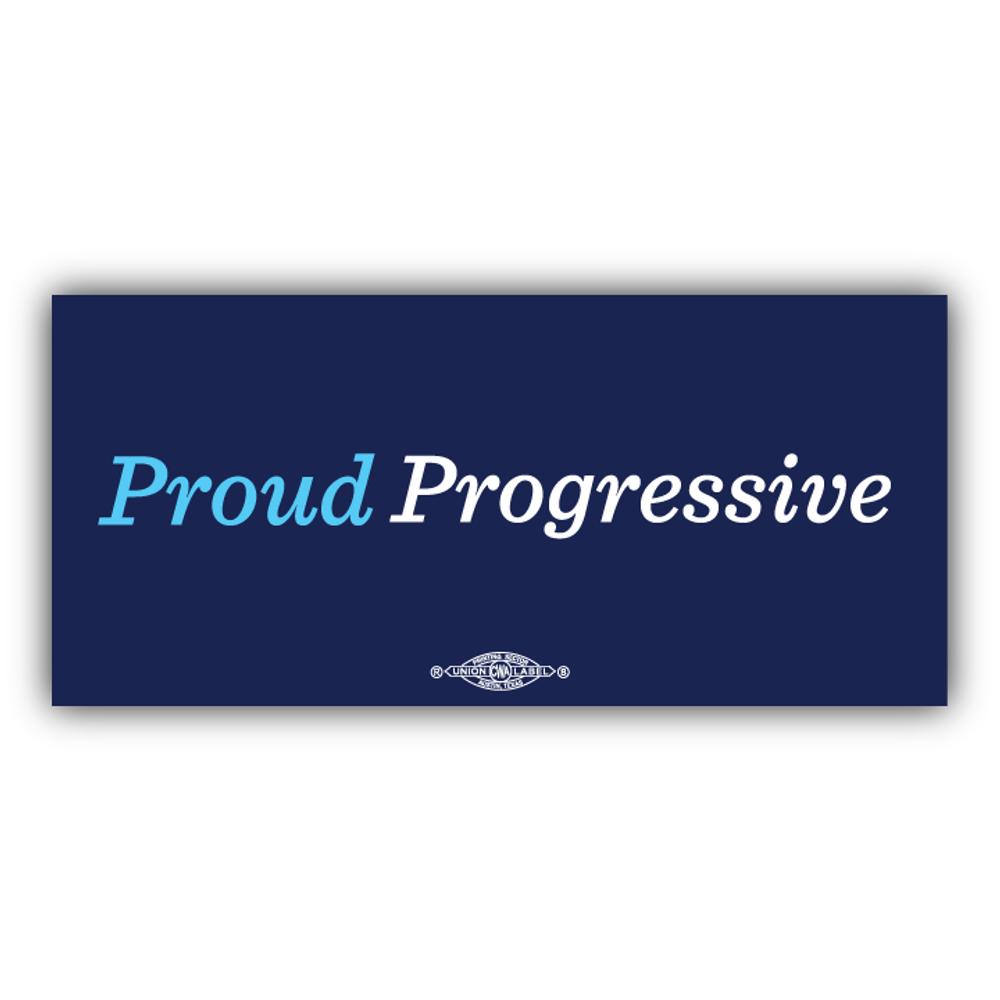"Proud Progressive (6"" x 3"" Vinyl Sticker -- Pack of Two!)"