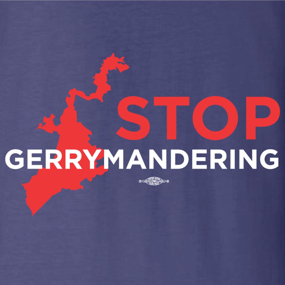 Stop Gerrymandering (Navy Long-Sleeve Tee)