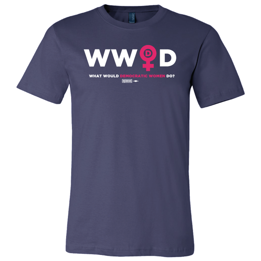 What Would Democratic Women Do Graphic  (Navy Tee)