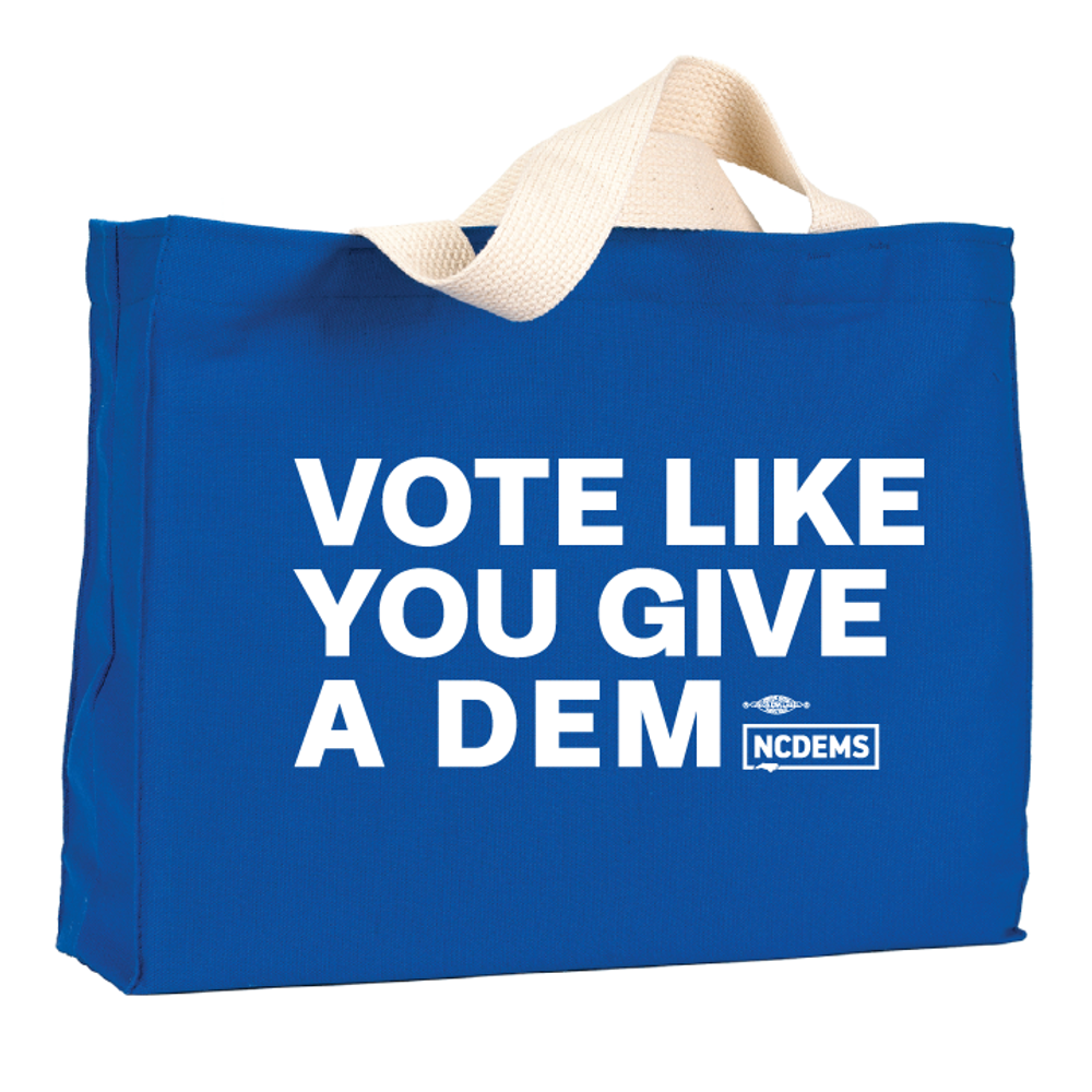 Vote Like You Give A Dem (Royal Blue Canvas Tote)