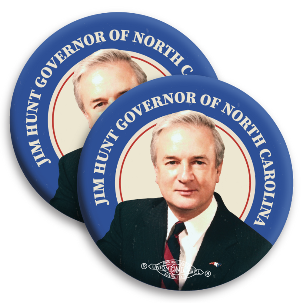 "Jim Hunt Throwback (2.25"" Mylar Button -- Pack Of Two!)"