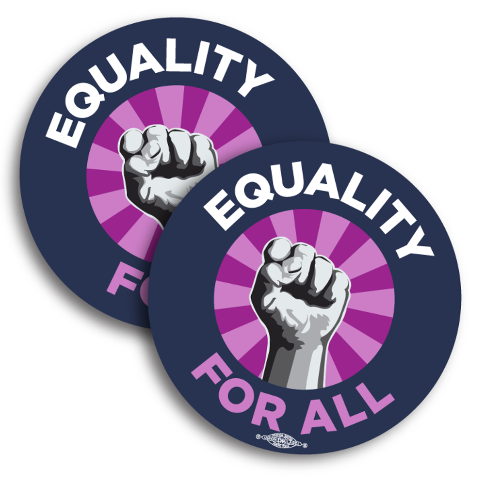 "Equality for All (4"" Vinyl Sticker -- Pack of Two!)"