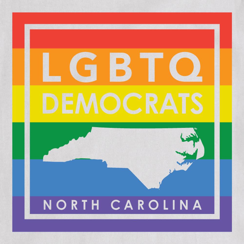 LGBTQ Democrats (Unisex White Tee)