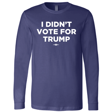 I Didn't Vote For Trump (Navy Long-Sleeve Tee)