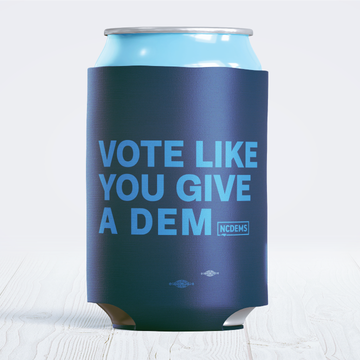 Vote Like You Give A Dem (Navy Foam Can Cooler)