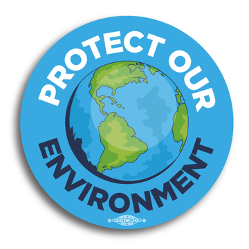"Protect Our Environment (4"" Vinyl Sticker -- Pack of Two!)"