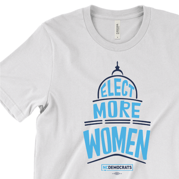 Elect More Women (On White Tee)