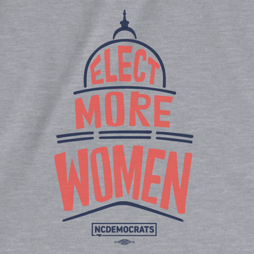Elect More Women (On Athletic Heather Tee)