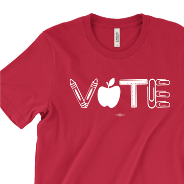 Vote Teacher's March (on Red Tee)