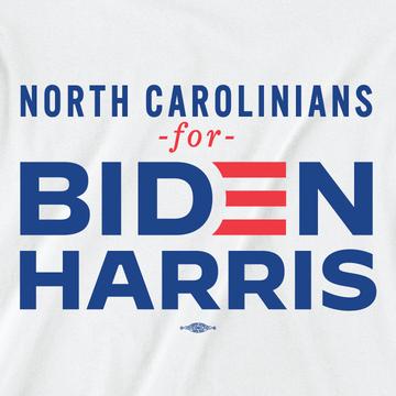 North Carolinians For Biden/Harris (Unisex White Tee)