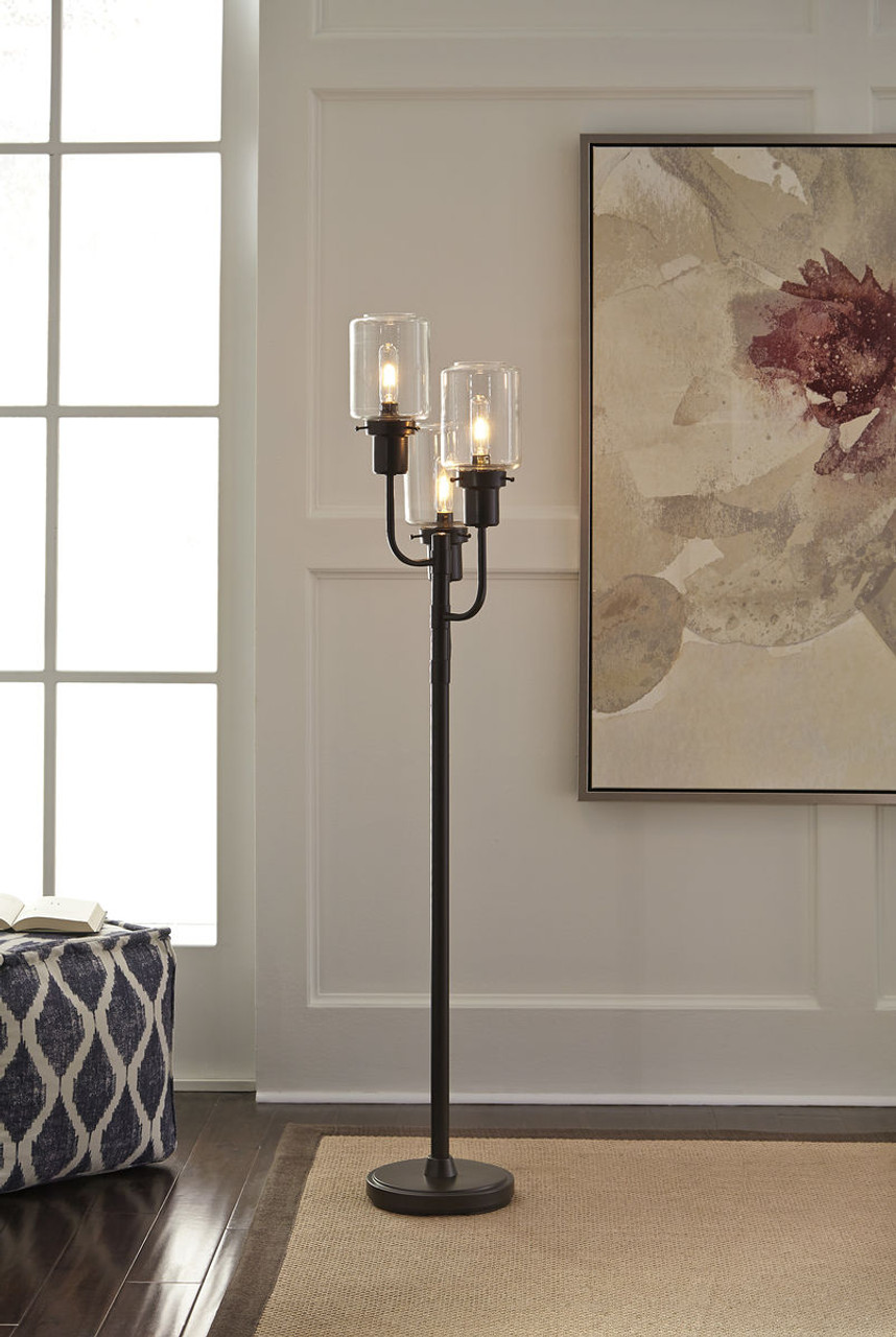 Image of: The Jaak Bronze Finish Metal Floor Lamp Available At Select Furnishings Serving Brenham Tx And Surroundaing Areas