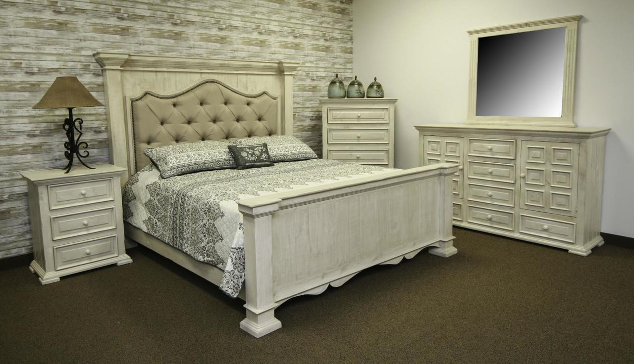 The Terra White Upholstered Bed King Available At Select Furnishings Serving Brenham Tx And Surrounding Areas